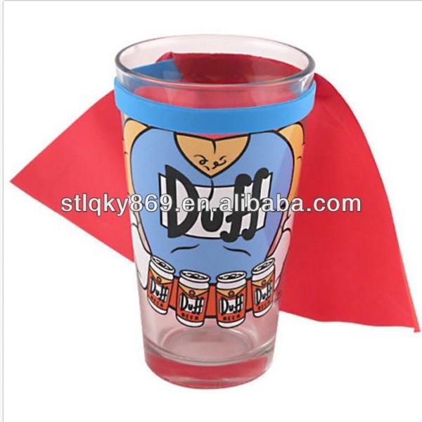 Os simpsons duffman caped pint vidro- 16oz- bar colectible duff beer gift copo pint de cerveja de vidro