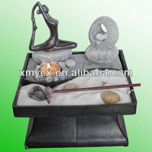 Yoga figurien zen garden water fountain .