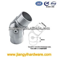 Adjustable handrail pipe fitting / tube connector