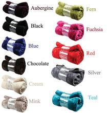 Faux Fur Blanket Sofa BED RUNNER bedspread EXTRA / LARGE Dreamscene Mink Blanket