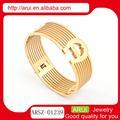 2014 nueva materia prima brazaletes de oro chapado de desgaste del partido pulsera