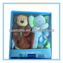 2014 custom cute the cuddlies toys plush monkey and elephant