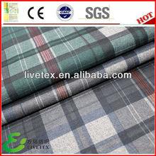 Free samples woven wholesale school uniform plaid fabric