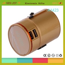 2014 most powerful LED LOGO travel adaptor 2012 usb 2.1A