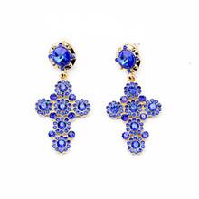 Wholesale Fashion Shourouk Statement Trendy Cross Earrings for Girls E10216