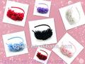 Wholesell chiffon flor de plástico cabeça bandas, cores de cabelo acessórios