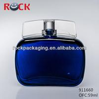 2014 hot design blue bottle men's perfume/ocean blue perfume glass bottle