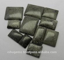 Naturale di corallo nero rettangolo cabochon con mix dimensione, buona qualità della pietra preziosa per gioielli in argento