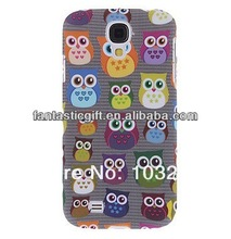 Custom Matte Design Cartoon Owl Pattern Hard Case Cover for Samsung Galaxy S4 I9500