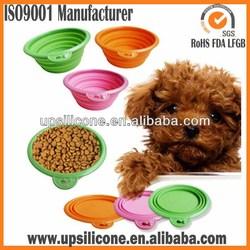 novelty covered pet travel food bowl pet dog water bowl