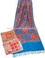 indian bordado de lã cachecóis para as mulheres