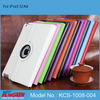 For iPad Air case, lowest price rotating flip leather case for iPad 5/Air