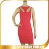 2014 newest sleeveless bandage dress sexy red dress