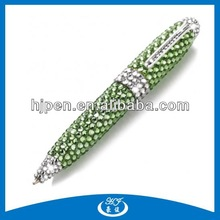 Beautiful Small Cute Metal Twist Crystal Ball Pen Blink Pen
