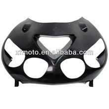For Kawasaki ZX-14 ZZR1400 2006-2011 ABS Unpainted Black Upper Front Fairing