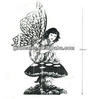 Metal fairy and unicorns figurine fairy figurines