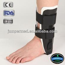 medical molded plastic black ankle stirrup support