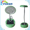 Bright 8 leds YMC-L02S popular bright portable usb recharging portable solar led desk lamp with charger