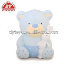 New Little Teddies Blue Money Box Piggy Bank Gift for Baby Boy Keepsake
