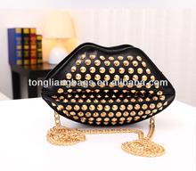 New style shoulder oblique cross rivets bag lady fashion bags