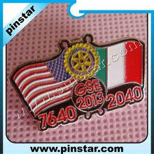 Nationality friendship hard enamel pin badges factory