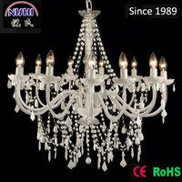 2014 modern luxury white crystal chandelier for wedding hotel pendant light NS-120125W