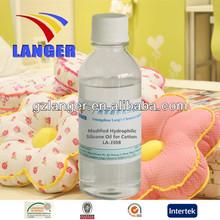 Modified Hydrophilic Silicone Oil for Cotton