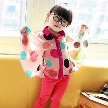 2014 Summer Kids Girls Chiffon Blouse Girls chiffon blouse design for kids