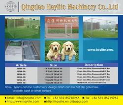 Heavy duty steel hot dip galvanized square tube welded mesh chain link dog pen