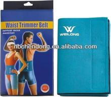 FITNESS NEOPRENE WAIST TRIMMER SLIMMING BELT back support brace BLUE