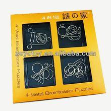 Favorites Compare Wholesale iron metal brain teaser puzzle promotional item