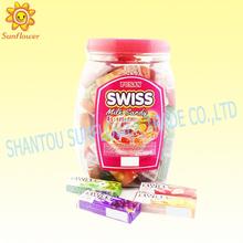 Mélange de fruits bonbons au lait 9g suisse, dans un bocal