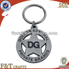 round cutomized unique metal 2014 keychain with hollow