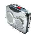 Portable mais barato mini walkman sou/fm rádio leitor de cassetes
