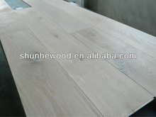 Unfinished Oak Engineered Wood Flooring with Oak Color PE Filler & 6mm top layer