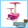 The Gradient Pink Three Layers And Simple Fossa Cat Scratching Trees House