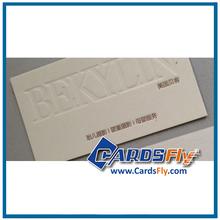 debossed paper business card printing