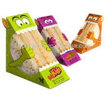 fancy food grade paper packaging box for sandwick