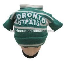 Knitted basketball club fan sweater hat