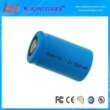 Ni-CD SC 1.2V 1500mAh rechargeable battery