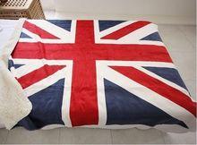 NEW BRITISH FLAG ENGLAND UNION JACK Sofa / Bed Fleece Throw & Blanket FLAG
