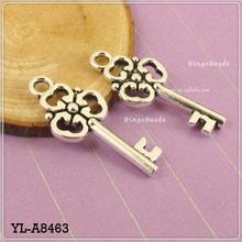 Skeleton Key pendentif coeur Lot verrouiller bijoux Steampunk
