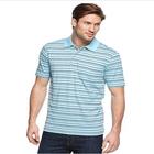100% polyester custom short sleeve striped polo shirts for men