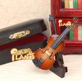 casa de bonecas instrumento musical violino mini modelo he007