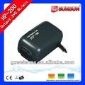 Ampla utilização sunsun 1. 8l/min 2. 5w hp-200 aquário bomba de ar
