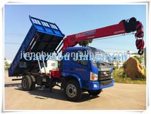 Foton Forland dump truck mounted with hydraulic crane