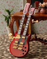1:6 scale music instrument mini bass guitar model HE009C