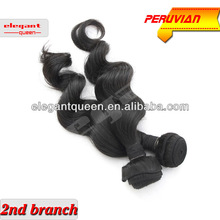 Unprocessed wholesale AAAAA virgin Peruvian hair extension,natural color hair,loose wave