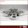 7pcs America popular pour mouth wholesale cookware set