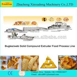 Automatic Corn Snack Nachos Chips Pringles Production line
